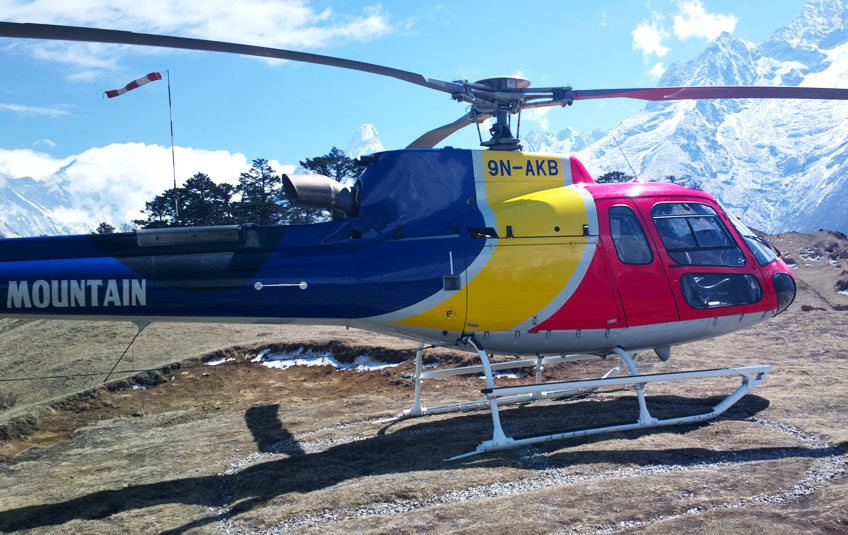 Helicopter tours to Everest Base Camp