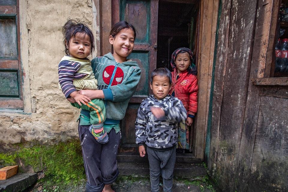 People in Manaslu Trek