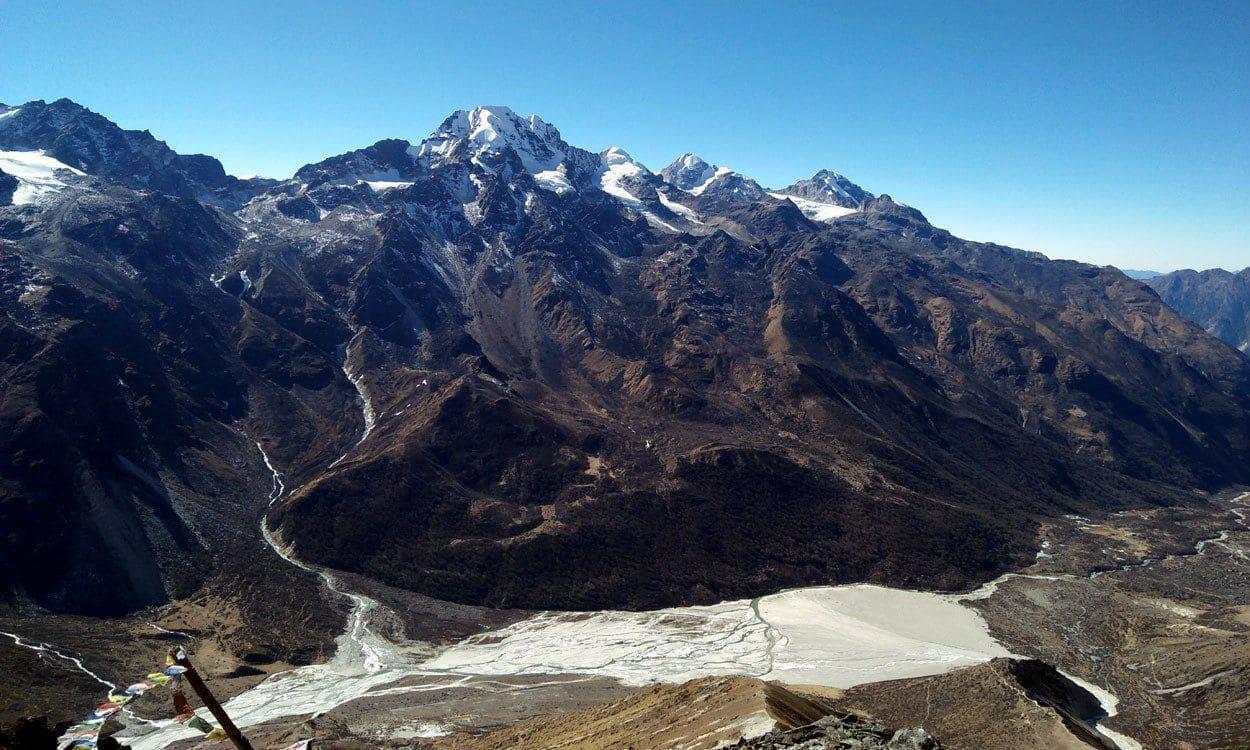 Naya Kanga Mountain range from Kyangin Gompa