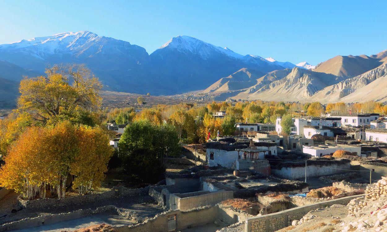 Village in Upper Mustang Trek