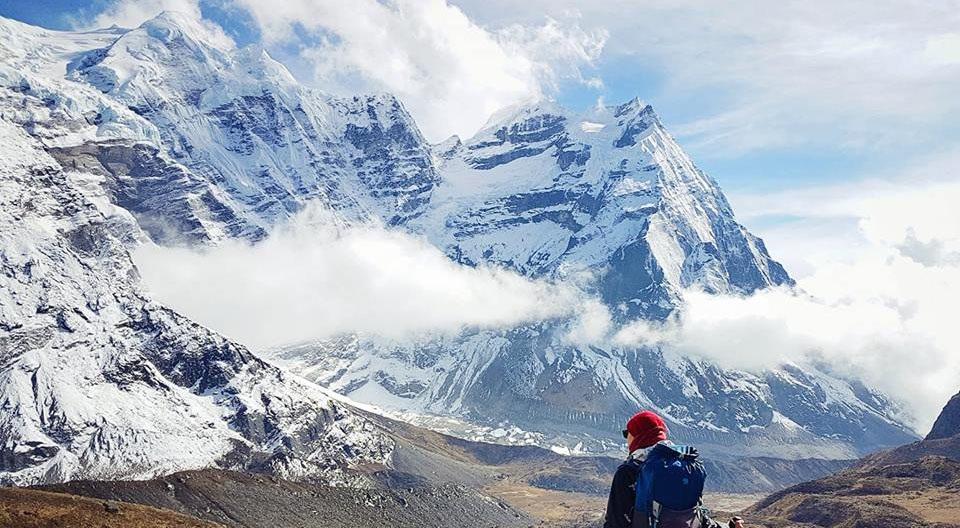 Mera Peak Summit view from Mera Base Camp